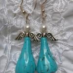 Turquoise skirt ear rings